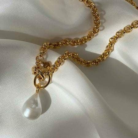 Astrid & Miyu Illume Pearl Chain Necklace