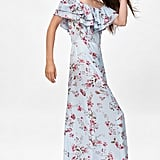 Zara Long Floral Print Dress