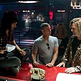 Russell Brand, Adam Shankman, and Alec Baldwin on the set of Rock of Ages. Photos courtesy of Warner Bros.