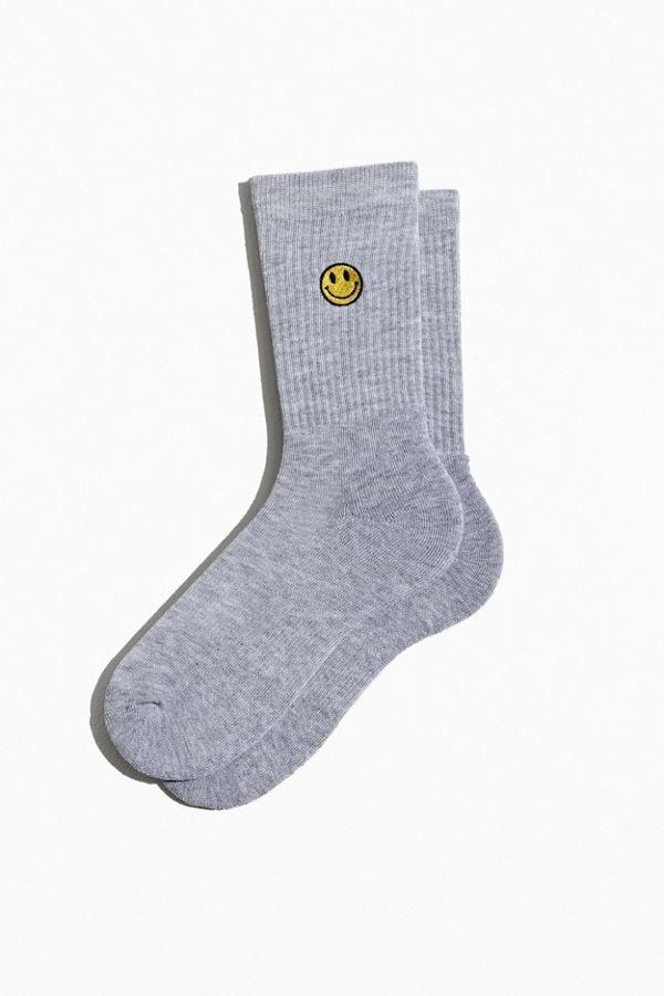 Smiley Face Sport Crew Socks