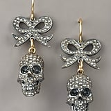 Here's another unexpected pairing: bows and skulls. These Jessica Kagan Cushman bow skull earrings ($3,750) will make your ears pop no matter what you wear them with: jeans and a tee or a fancy dress.