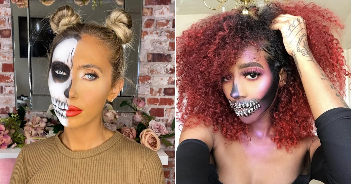 30+ Bone-Chillingly Cool Skeleton Makeup Ideas to Try This Halloween