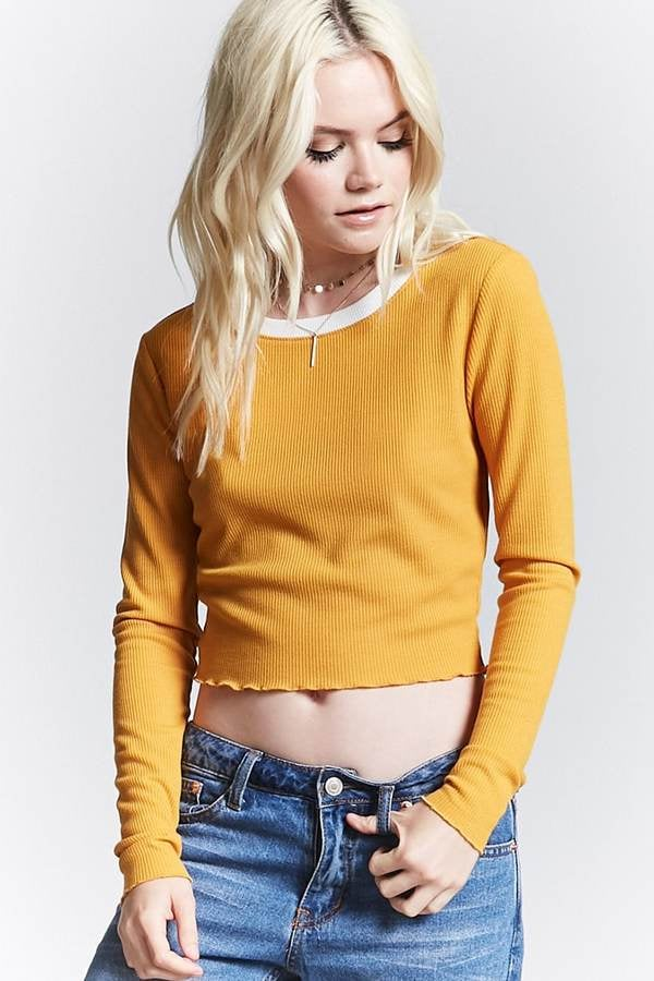 Forever 21 Waffle-Knit Crop Top