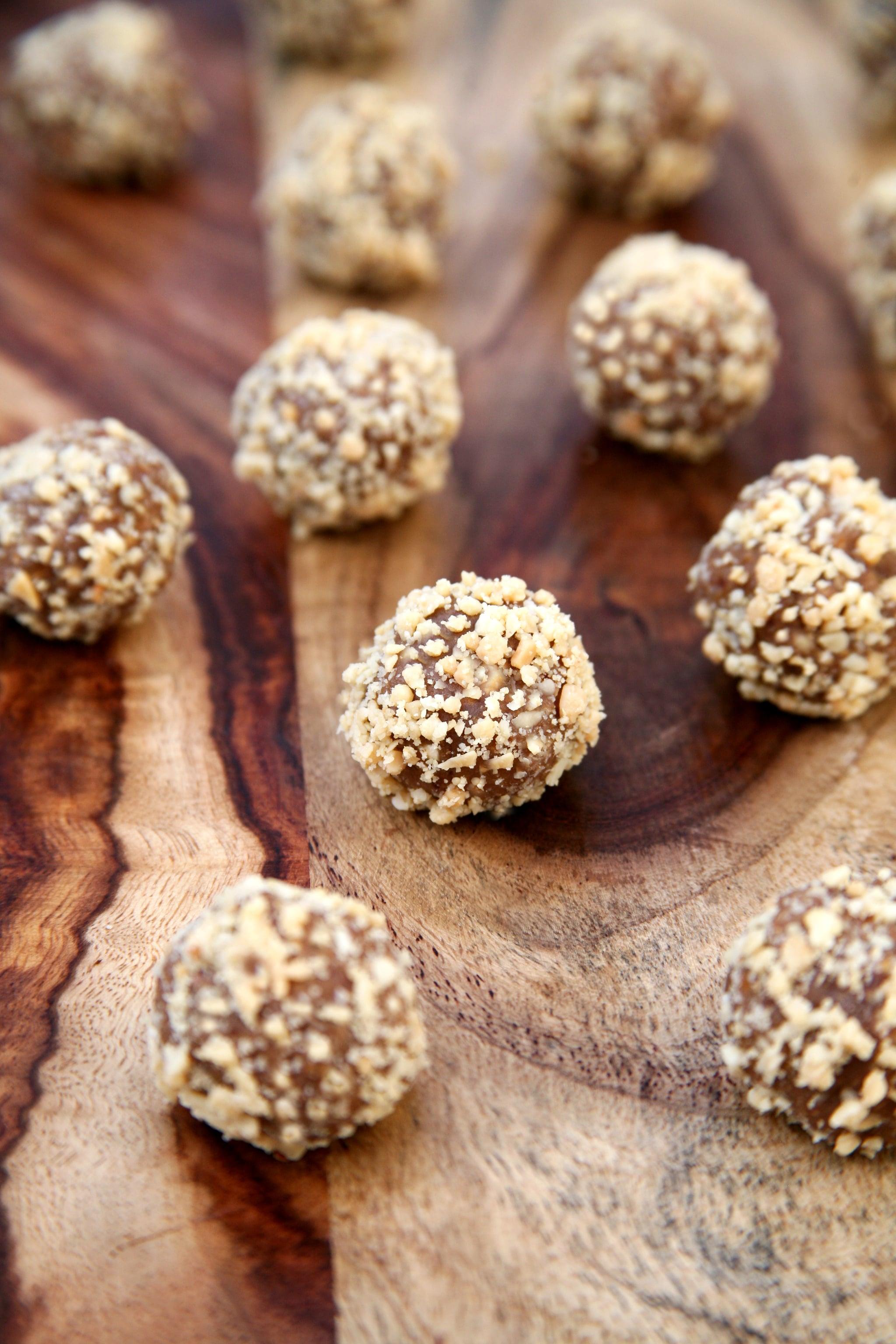 4-Ingredient Salted Peanut Protein Balls — Just 60 Calories!