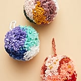 Multicolor Pom Ornaments, Set of Three