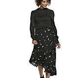 Star Asymmetrical Ruffle-Hem Skirt