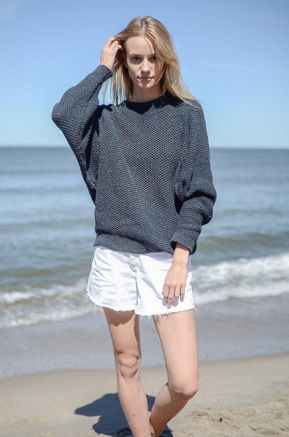Salanida Oversize Recycled Denim Sweater