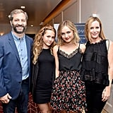 Judd Apatow and Leslie Mann With Daughters September 2016