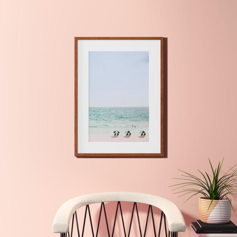 Madeline: Beach Life With Dark Wood Frame
