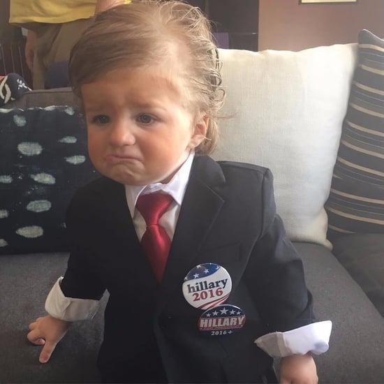 Casey Wilson Dresses Son as Donald Trump Halloween 2016