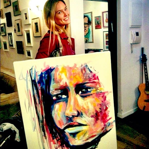 Bar Refaeli treated herself to a piece of art. Source: Instagram user barrefaeli