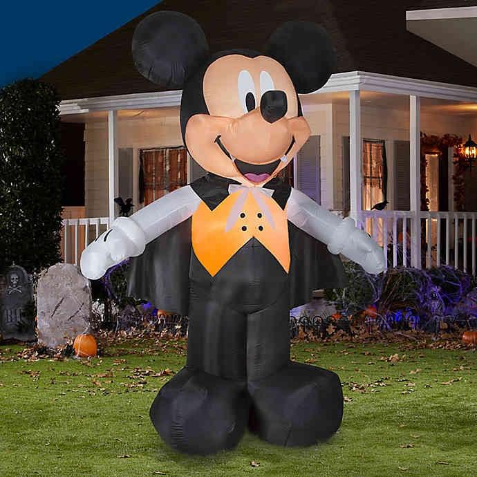 Halloween Yard Decorations 2019.Inflatable Disney Mickey Mouse Vampire 10 Foot Outdoor Halloween