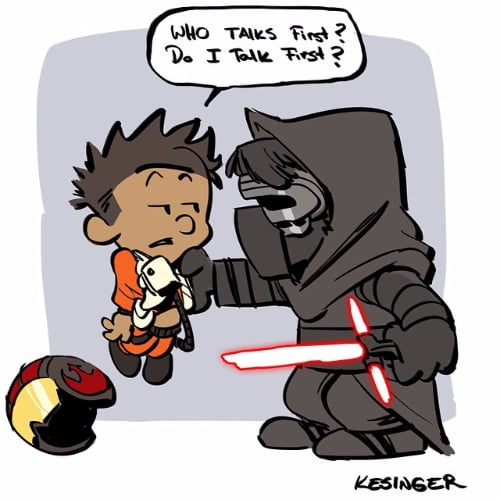 Star Wars and Calvin and Hobbes Mashup