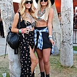 Whether it be a slitted skirt or a polka-dot mini, these ladies prove bralettes should be worn with statement necklaces at a festival.