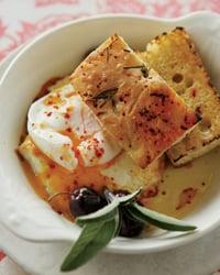 Poached Eggs With Feta Recipe