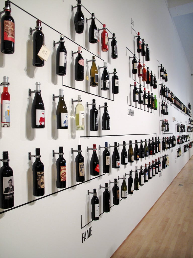 wall of wine bottles pictures of the how wine became