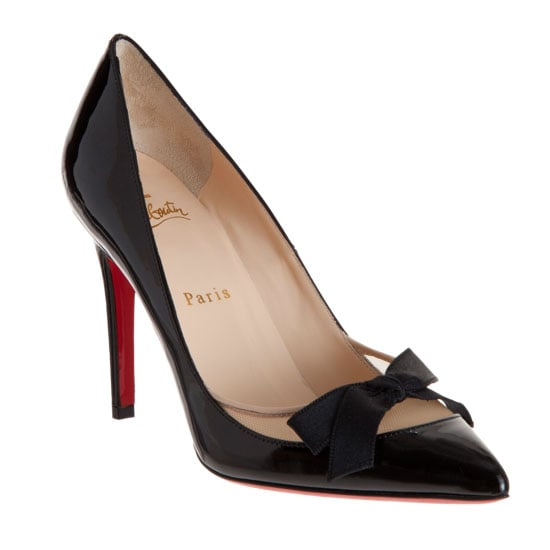 A sweet bow-tie detail to add just a little girlishness to this sexy patent leather pump. Christian Louboutin Love Me Pumps ($895)
