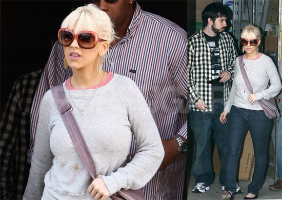 Photos of Christina Aguilera and Jordan Bratman Shopping on Election Day