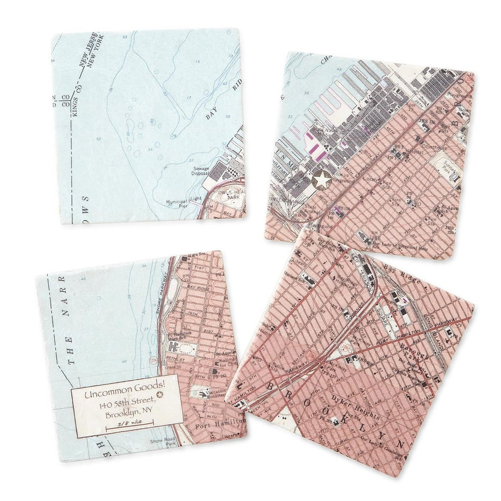 For the Grandparents Who Have Moved Around: Custom Neighborhood Map Coasters
