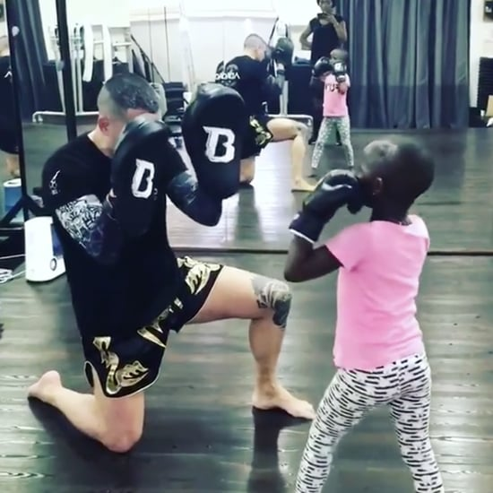 Madonna's Twin Daughters Boxing