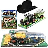 Farm World Showbag ($20) Includes:  Tractor with trailer and farm animals  Farmer's hat  Harvester with cultivator