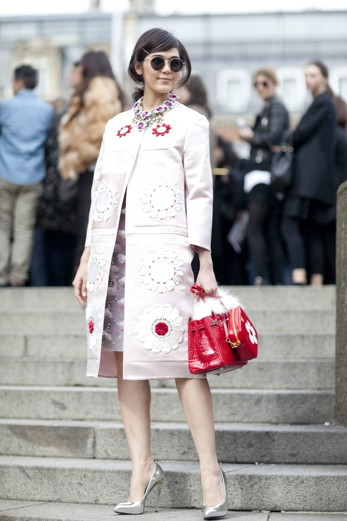 Ladylike but with all the embellishment befitting a real statement-making look.
