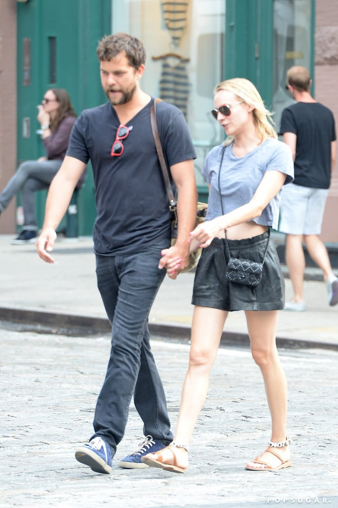 Joshua Jackson and Diane Kruger held hands on their Friday stroll in NYC.