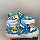 Custom Underwater Baby Shark Kids Vans