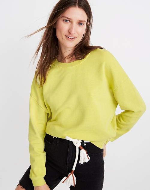 Garment-Dyed Oversized Sweatshirt