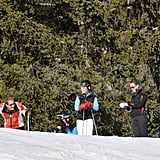 Pippa Middleton and George Percy took a break on the mountain in France.