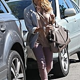 Jessica Alba headed towards her car in Beverly Hills.