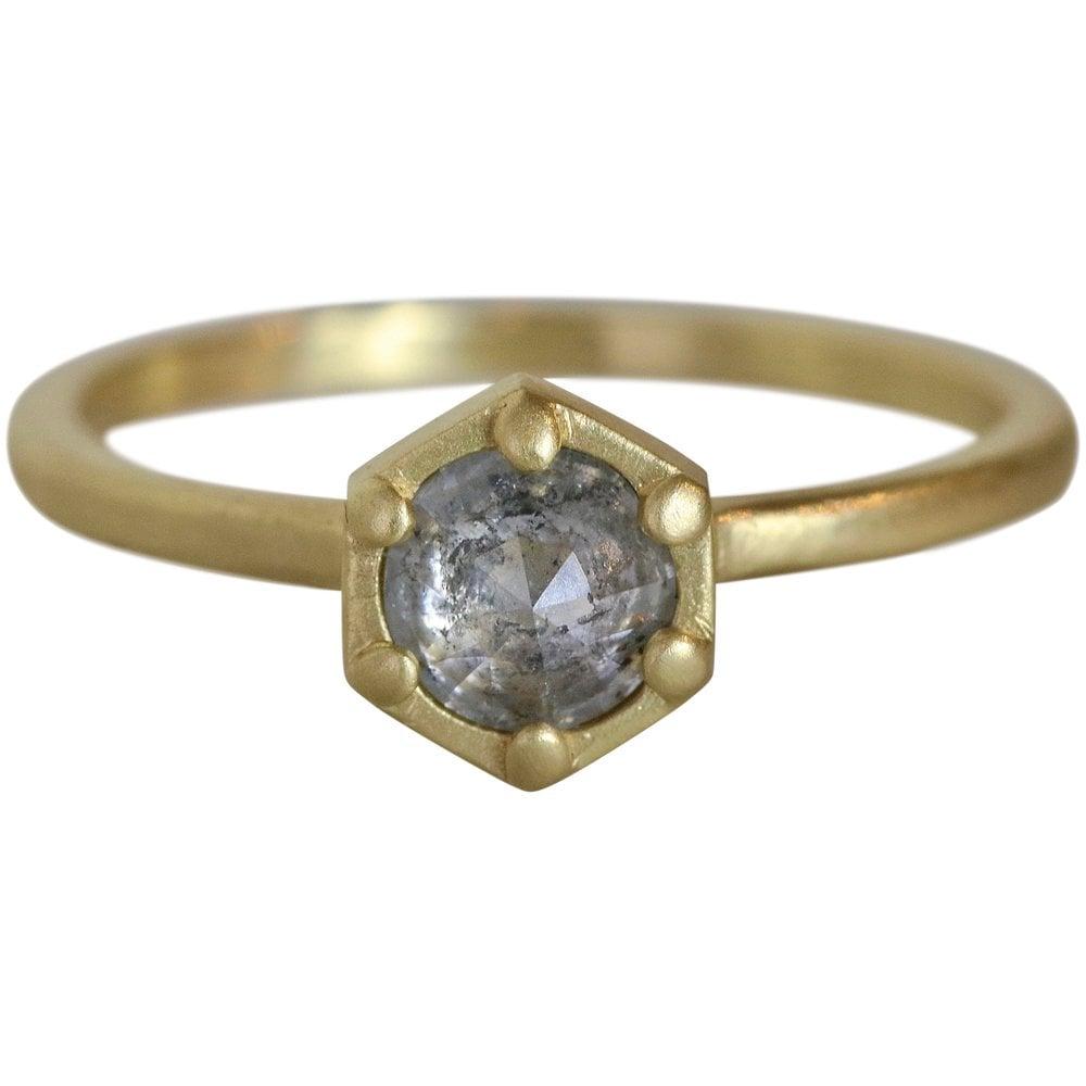 Deco Hex Diamond Ring