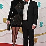 Anna Elisabet Eberstein and Hugh Grant at the 2020 BAFTAs in London