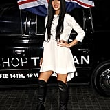 Nicole Scherzinger wore thigh-high boots.