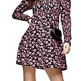 Topshop Floral Print Long-Sleeve Minidress