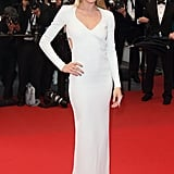 Doutzen Kroes in Calvin Klein Collection at Cannes Film Festival premiere of Jimmy P. (Psychotherapy of a Plains Indian).