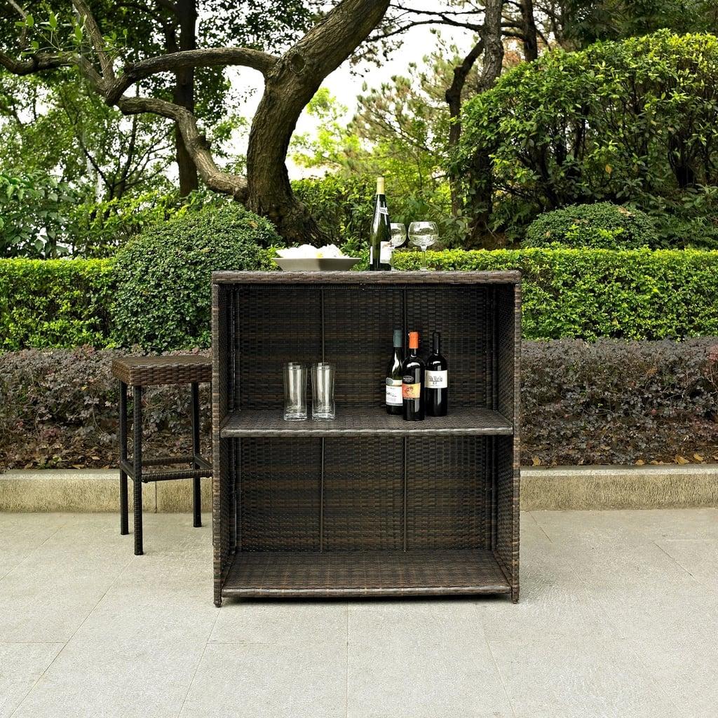 Palm Harbor Wicker Patio Bar Furniture Set