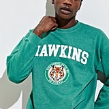 Urban Outfitters Stranger Things Hawkins High School Pigment Dyed Crewneck Sweatshirt