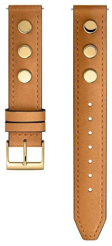 rebecca minkoff gold tone biker stud leather guitar strap best watches for women popsugar. Black Bedroom Furniture Sets. Home Design Ideas