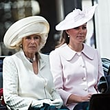 Kate Middleton sat next to Camilla, Duchess of Cornwall.