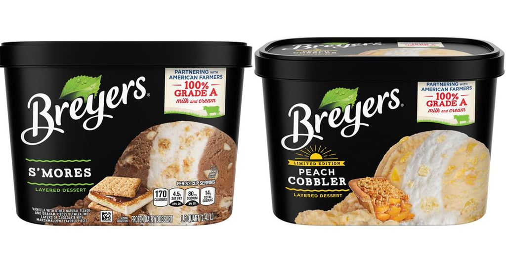 Shop Breyers S'mores and Peach Cobbler Layered Ice Creams