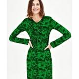 Zara Floral Dress With Shoulder Pads