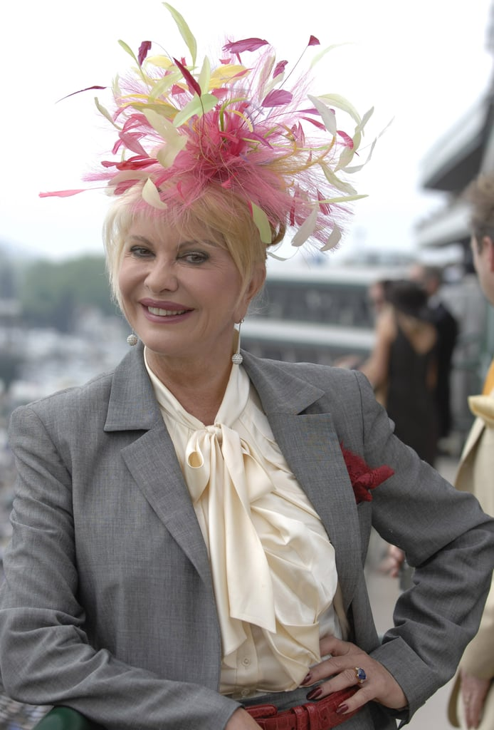 Ivana Trump visited Churchill Downs with her eccentric fascinator in 2007.