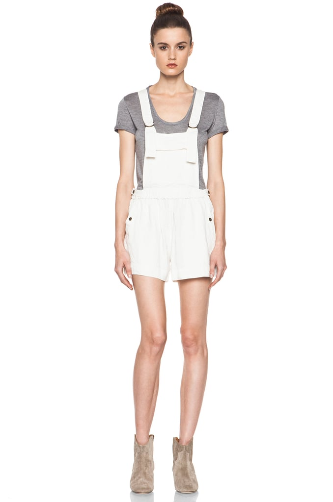 The overalls trend is getting pretty huge, but I'm kind of confused as to why they went out of style in the first place! While I've had a set of vintage Levi's in my closet for a while now, I'm hoping to update them with these Etoile Isabel Marant Jason Linen Overalls ($385). First of all, they're linen, which means they'll be incredibly soft and comfortable, and great for throwing on over a bathing suit during a park day. Second, I can still spice them up for going out with a tissue-thin tank, bright bra, and high-heel ankle boots. Totally unexpected, and totally versatile. — Britt Stephens