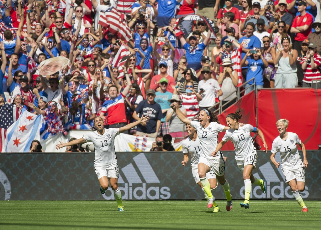 The US Women's National Team Celebrates Winning the 2015 FIFA Women's World Cup
