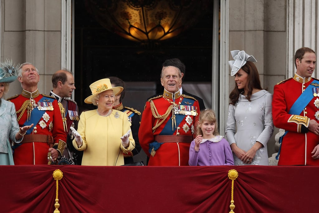Kate Middleton, Prince William, Prince Charles, Prince Philip, and Queen Elizabeth made a balcony appearance at the Trooping the Colour ceremony in London.