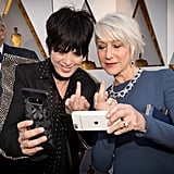 Pictured: Diane Warren and Helen Mirren