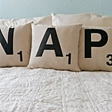 Nap Scrabble Letter Pillow Covers