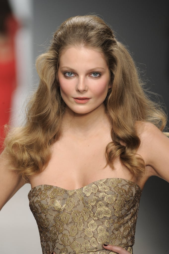 At the Fall 2012 Issa show, models had Brigitte Bardot waves with volume through the crown.