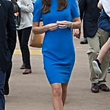 In July 2016, Kate's hemline raised eyebrows yet again as she visited the Royal International Air Tattoo.